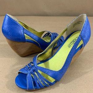 Seychelles open toe wedge shoes
